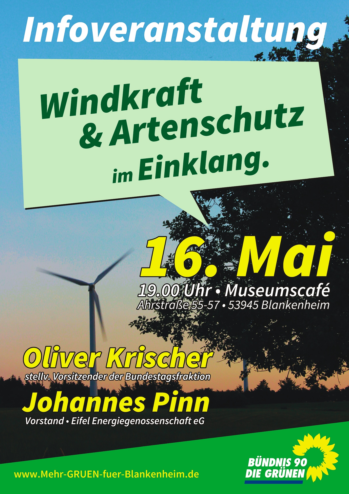 Informationsveranstaltung mit Oliver Krischer & Johannes Pinn