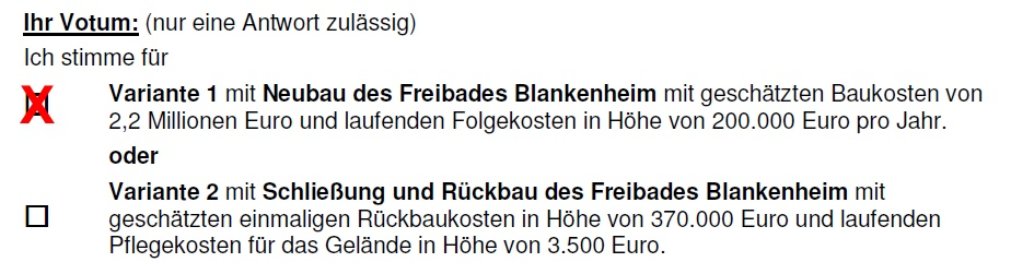 Votum Freibad Blankenheim