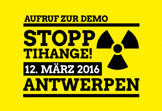 Anti Atom Demo in Antwerpen am 12.3.2016