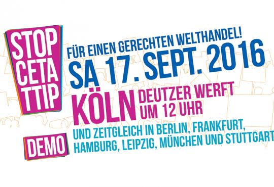 Demo: Stopp CETA & TTIP - Köln