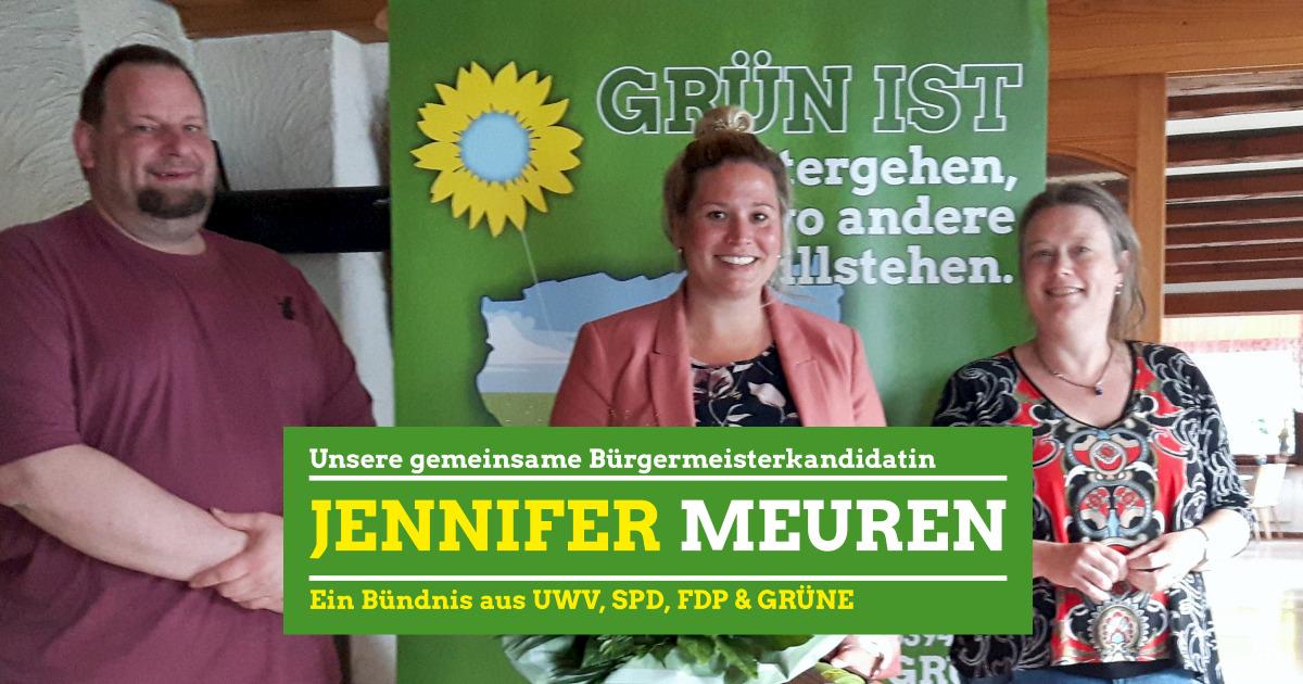 Jennifer Meuren - Unsere gemeinsame Bürgermeisterkandidatin