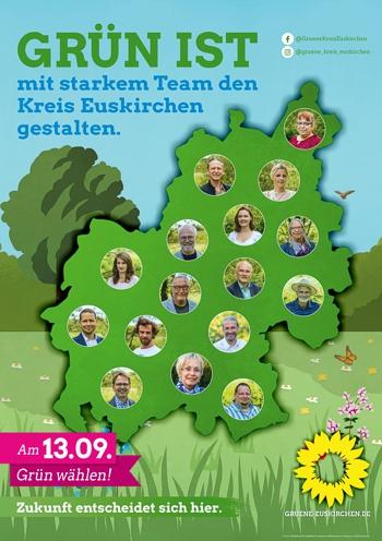 Grün ist mit starkem Team den Kreis Euskirchen gestalten