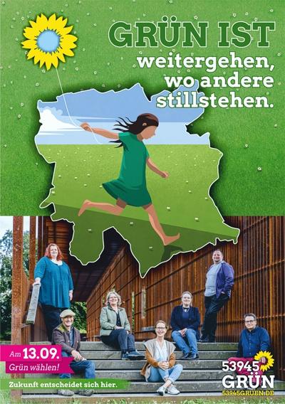Plakat Grüne Blankenheim - Weitergehen, wo andere stillstehen