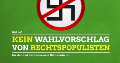 Kein Wahlvorschlag von Rechtspopulisten in der Gemeinde Blankenheim